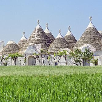 Trulli Häuser in Alberobello in Apulien
