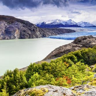 Der Grey-Gletscher im Torres-del-