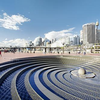 Der Darling Harbour in Sydney