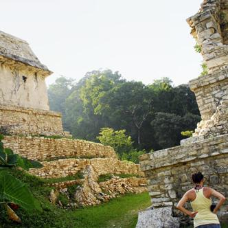 In den Ruinen von Palenque in Mexiko
